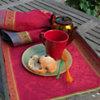 Lot de 4 serviettes de table Isaphire  GARNIER THIEBAUT, Rubis