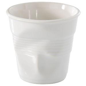 Lot de 6 Gobelets Froissés REVOL 8 cl  blanc