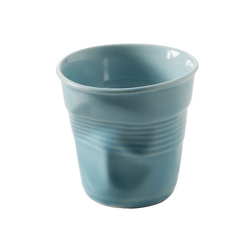 Lot de 6 Gobelets Froissés REVOL 8 cl  Bleu Caraïbes