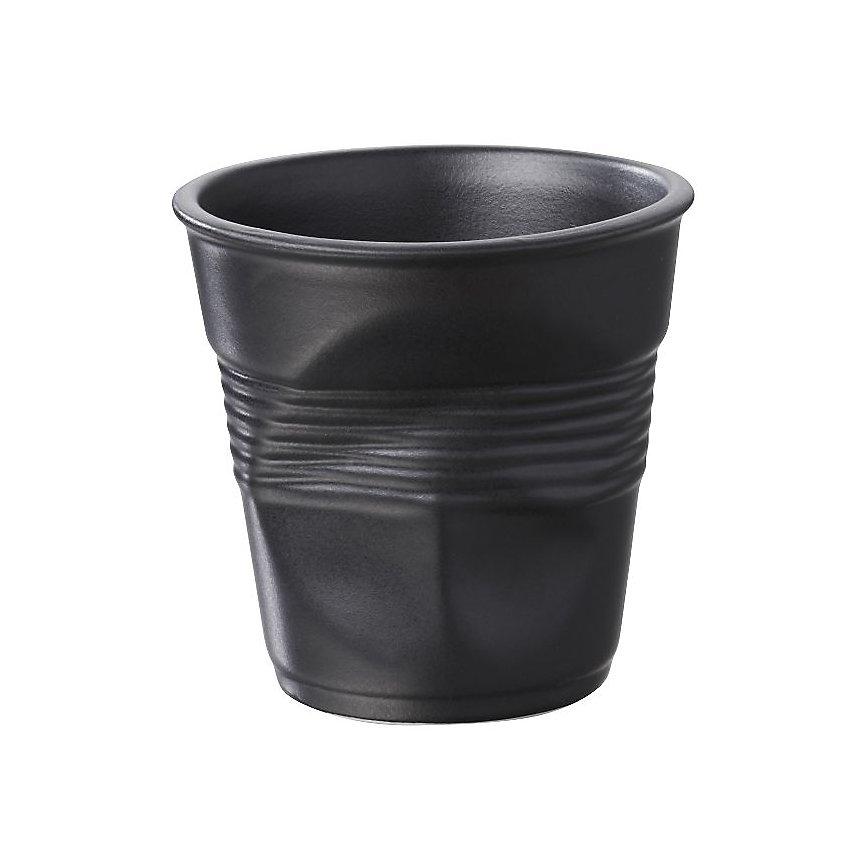 Lot de 6 Gobelets Froissés REVOL - 12 cl  Noir Satiné