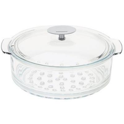 Cuit-vapeur en verre + couvercle CRISTEL  - 24 cm