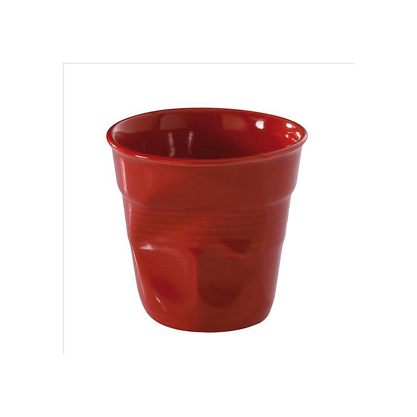 Lot de 6 Gobelets Froissés REVOL - 12 cl  Rouge Piment