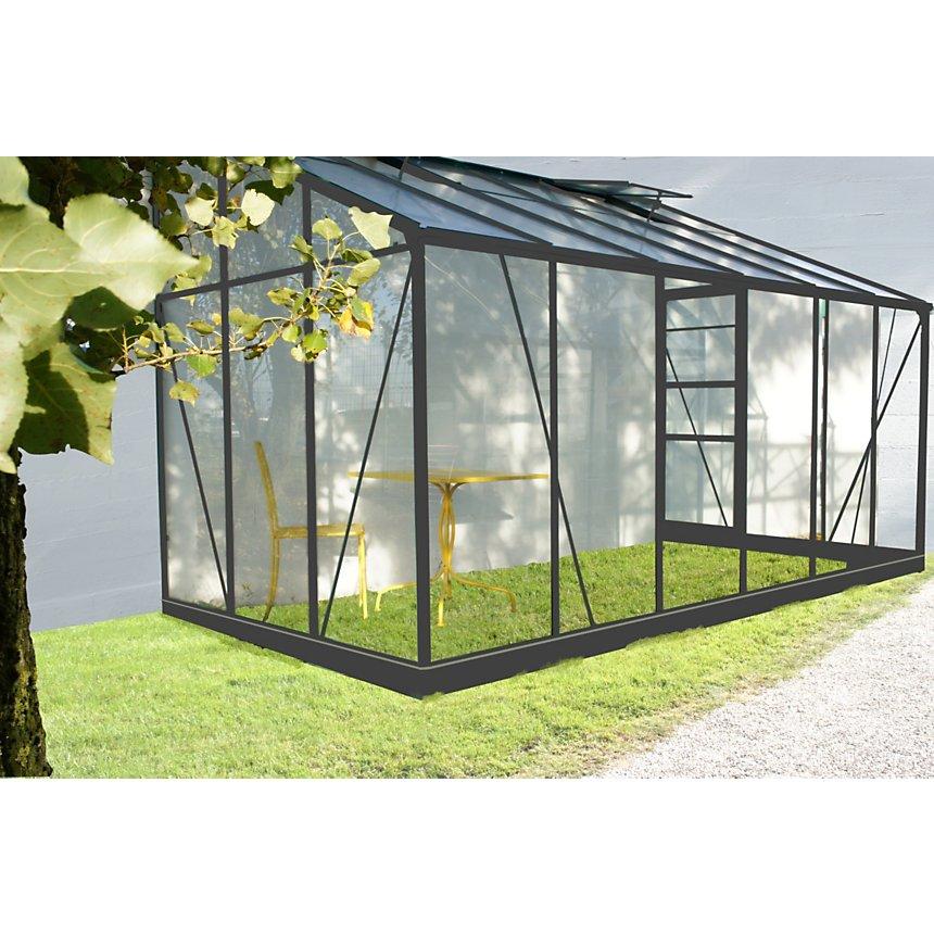 Serre grise adossable 7.22 m² CHALET &  JARDIN