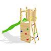 Portique avec toboggan et aire  d'escalade CHALET & JARDIN
