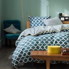 Parure de lit Faience Bleu Prusse