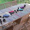 Lot de 4 sets de table antitaches Sous  le Patio GARNIER THIEBAUT, Prune