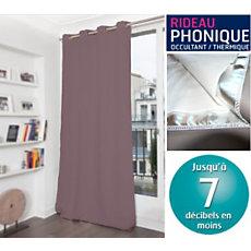 rideau phonique occultant thermique moondream. Black Bedroom Furniture Sets. Home Design Ideas