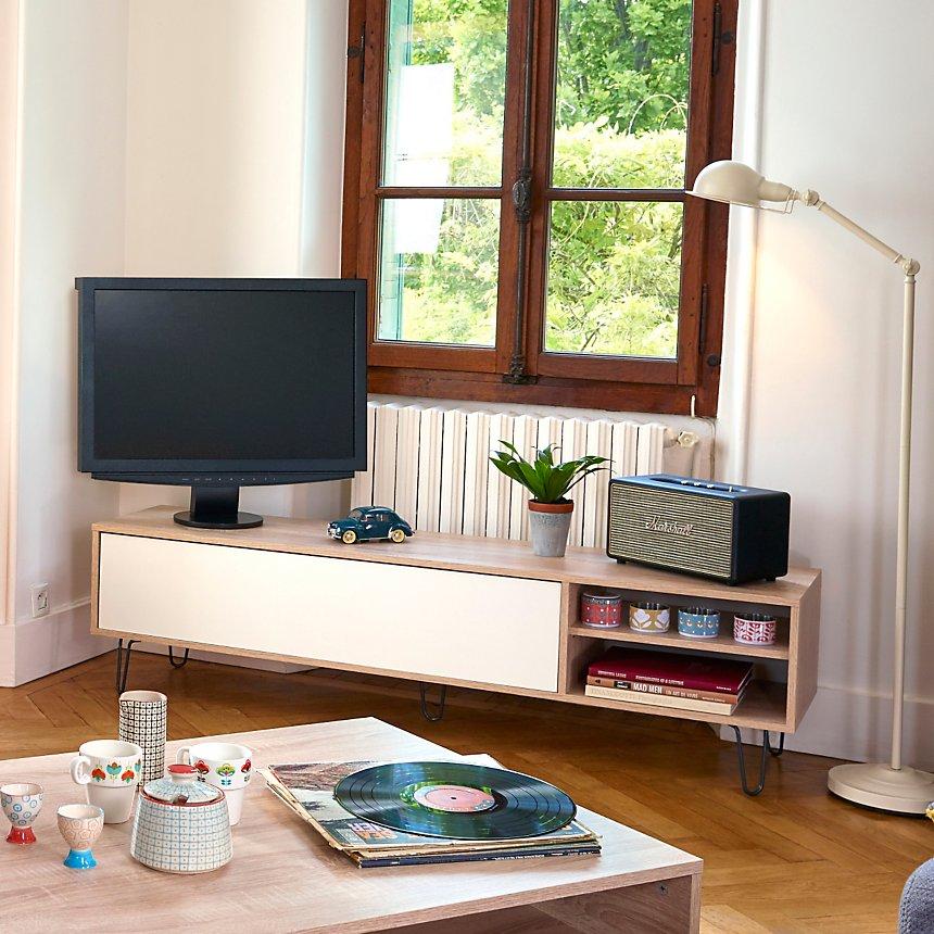 Meuble TV 1 abattant Style