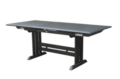 Table aluminium plateau HPL gris...