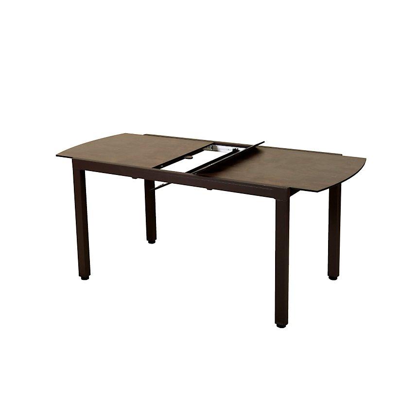 Table de balcon extensible Ticao marron et rouille LES JARDINS