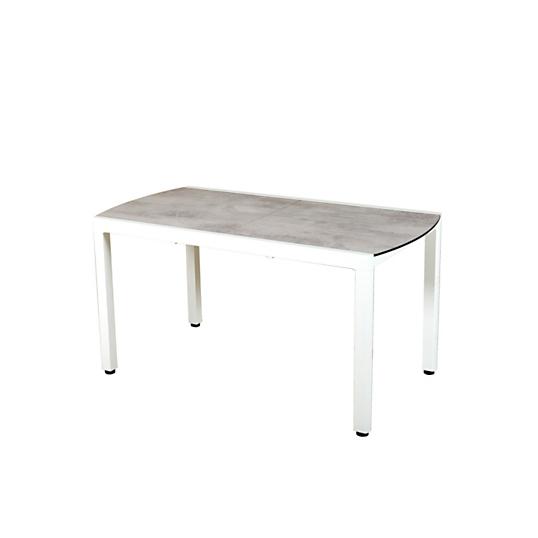 table de balcon extensible ticao blanc et b ton cir les jardins. Black Bedroom Furniture Sets. Home Design Ideas