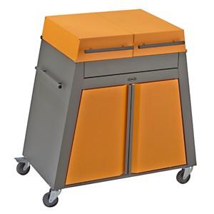 Chariot Bistro ENO acier noir/orange