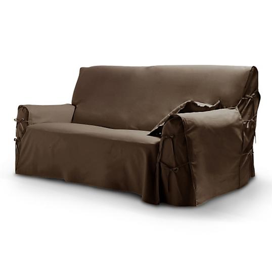 housse pour canap 3 places tutti tempo chocolat. Black Bedroom Furniture Sets. Home Design Ideas