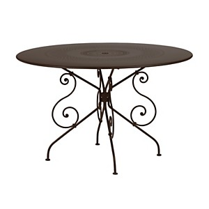 Table FERMOB 1900 Ø 117cm,  coloris au c