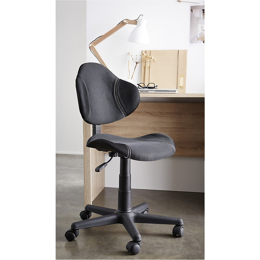 Chaise de bureau Doria Noir