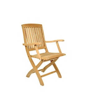 Lot de 2 fauteuils pliants Peigne en  teck brut massif