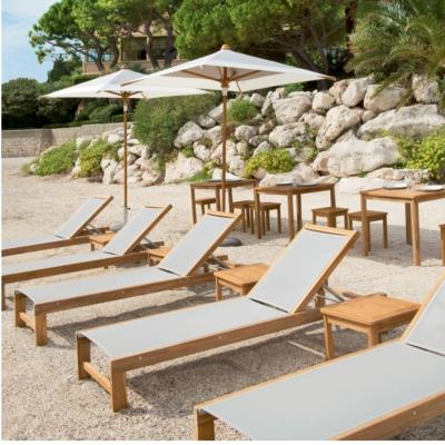 Lot de 2 bains de soleil en teck Ibiza VLAEMYNCK