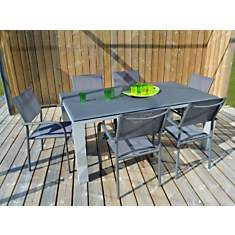 Ensemble table Gela 180 x 100 et 6  faut