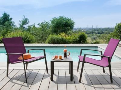 Lot de 2 fauteuils lounge Palma PRO  LOISIRS
