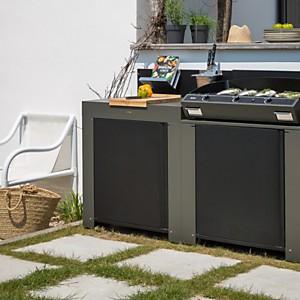 Plan de travail en acier galvanisé pour  cuisine d'extérieur ENO