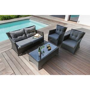 Salons complets extérieur : tables, chaises, canapés - Camif