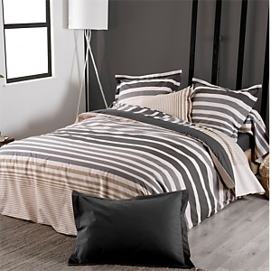 Taie percale Stripe Ficelle TRADILINGE