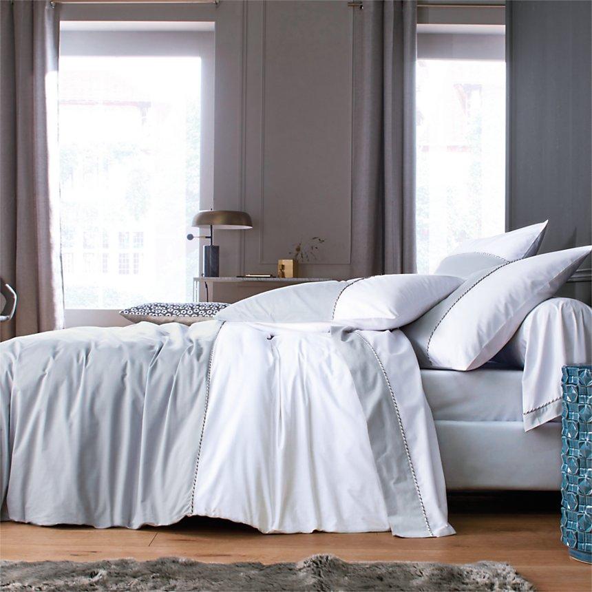 Parure de lit percale Loft BLANC DES  VOSGES