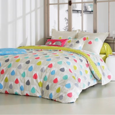 Parure de lit percale Sula SCION LIVING,  Citron