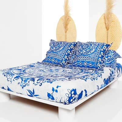 Taie percale Think in Blue DESIGUAL
