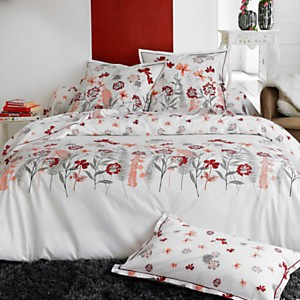 Taie percale Petite Folie rouge TRADILINGE