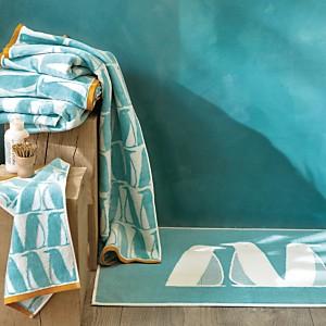 Tapis de bain Banquise SCION LIVING, turquoise