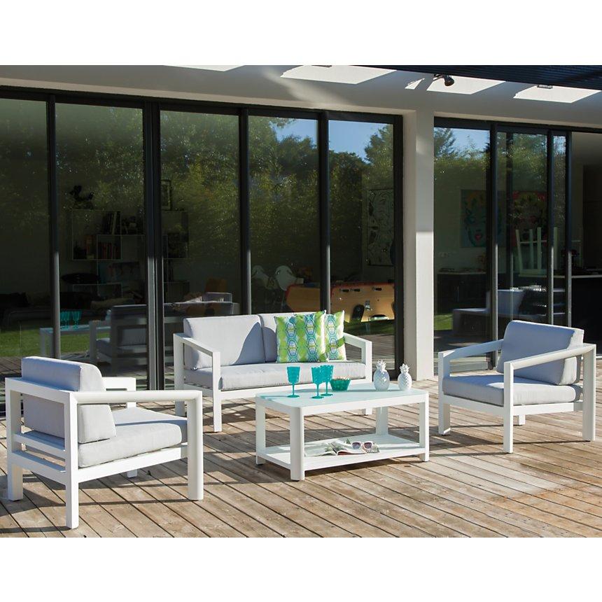 Canapé et table Zebra aluminium OCEO