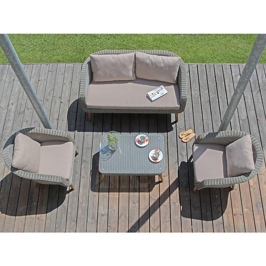 Ensemble Centura PRO LOISIRS composé de  2 fauteuils, 1 canapé et 1 table basse