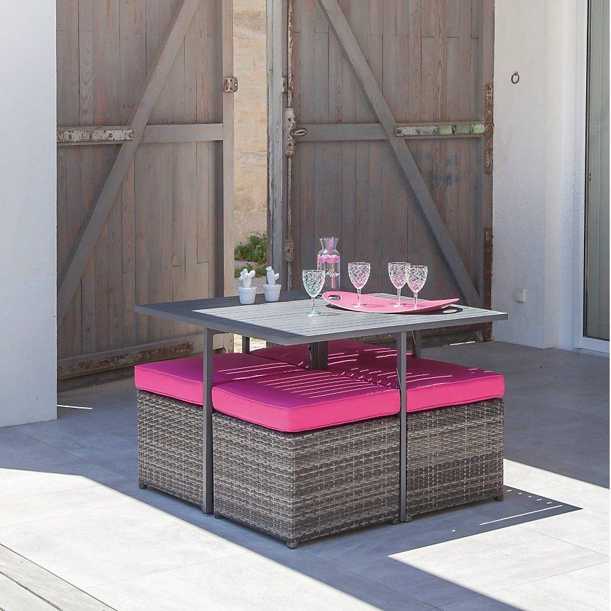 Salon de jardin Cubio en résine et aluminium PRO LOISIRS