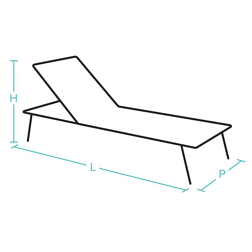 Bain de soleil pliant réglable acier/  toile Batyline® FERMOB Dune
