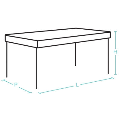 Table OCEO Barcelona, aluminium 180/240