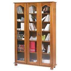 Bibliothèque Cluzel 3 portes, chêne