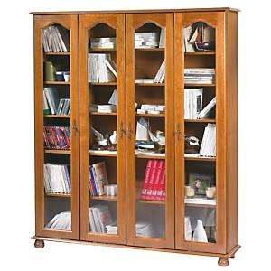 Bibliothèque Cluzel 4 portes teinté chên