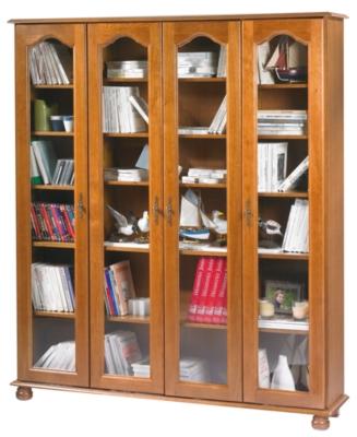 Bibliothèque Cluzel 4 portes teinté chêne