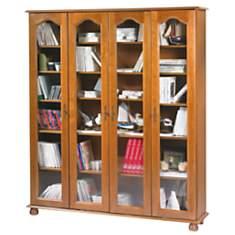 Bibliothèque Cluzel 4 portes, chêne