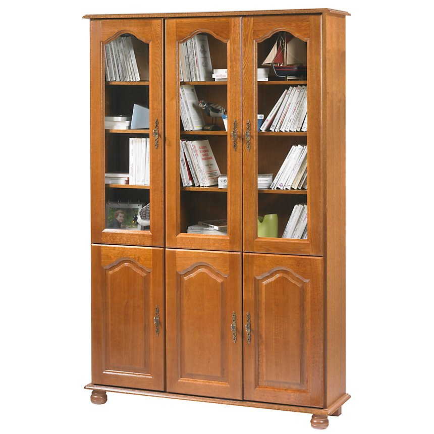 Bibliothèque Cluzel 6 portes, chêne