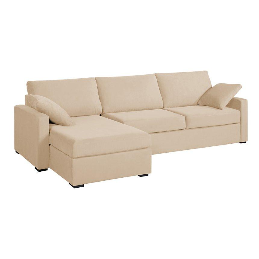 canap d 39 angle convertible tissu coton d houssable oslo. Black Bedroom Furniture Sets. Home Design Ideas