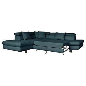 Canapé d'angle convertible Flavio avec  têtières relevables