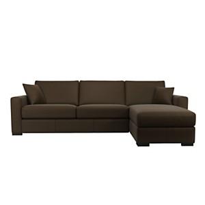 Canapé d'angle convertible cuir Pise