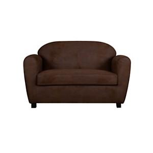 Canapé microfibre aspect cuir vieilli  Owen