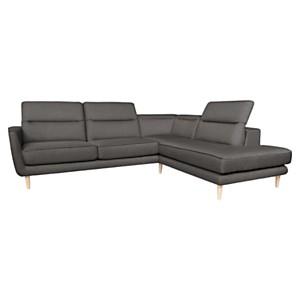 Canapé d'angle Fabio avec têtières  relevables