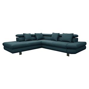 Canapé d'angle Flavio avec têtières  relevables