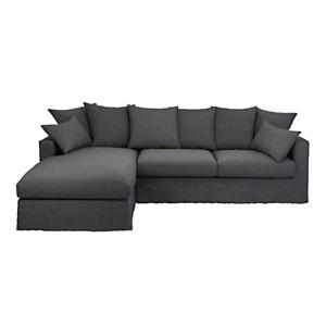 Canapé d'angle lin froissé Moëze