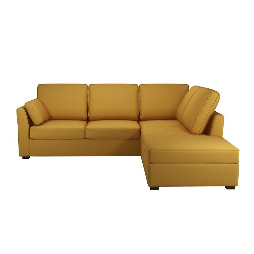 Canapé d'angle réversible tissu coton déhoussable Marbella