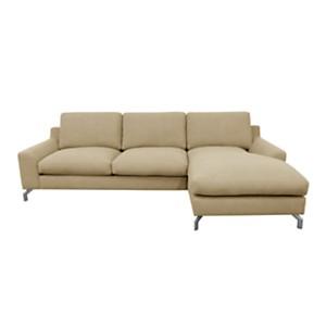 Canapé d'angle droit First, Sable